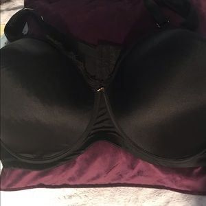 Black Double Back Bra